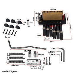 1 Set 6 Cordes Headless Guitar Fanned Fret Tailpiece Tremolo Bridge Black