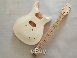 1 Set Bricolage Corps De Guitare Électrique Unfinished Et Le Cou Pour Kit Guitare Style Prs