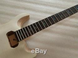 1 Set Corps De Guitare Électrique Non Fini Avec Des Pièces De Cou Kit Guitare Style Prs