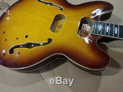 1 Set De Manche De Guitare Et Corps Finis Pour Kit De Guitare De Style Es335