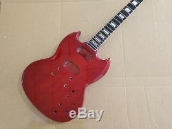 1 Set De Manche De Guitare Et Corps Finis Pour Kit Guitare Sg