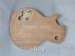 1 Set Diy Guitare Corps Et Manche Acajou Unfinished Guitare Électrique Kit
