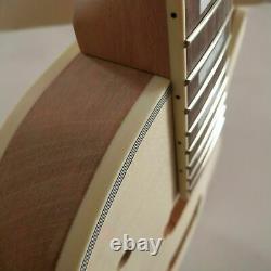 1 Set Diy Inachevé Guitar Neck And Body Pour Le Kit De Guitare De Style Lp Tout Le Matériel