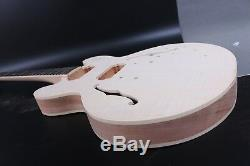 1 Set Kit Guitare Électrique Corps Manche Cou Diy Guitare Électrique Acajou Palissandre