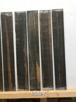 10 Pack, Ensemble. Fancy Gaboon Ebony Guitar / Fingerboard Blank 21 X 2-1/4 X 3/8