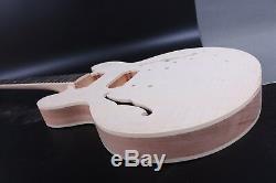 1set Acajou Corps Guitare + Guitare Cou 22fret Fit 335 Style De Pièces De Guitare / Projet