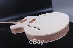 1set Acajou Corps Guitare + Guitare Cou 22fret Fit Es Guitare Électrique Partie
