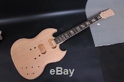 1set Body Guitare Acajou + Guitare Électrique Cou 22fret Diy Projet Guitare
