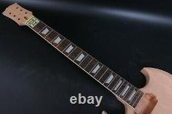 1set Electric Guitar Kit Guitar Neck Body 22fret 24.75inch Sg Style Rosewood