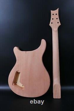 1set Guitar Kit 22fret Manche De Guitare Acajou Maple Bird Inlay Maple Guitar Body