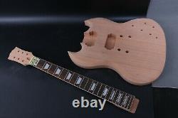 1set Guitar Kit Guitar Body Neck 22 Fret Electric Guitar Rosewood Fretboard Nouveau