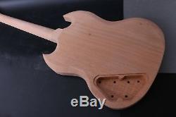1set Guitar Kit Guitar Body Neck 22 Fret Guitare Electrique Palissandre Nouveau