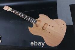 1set Guitar Kit Guitar Neck 22fret Guitar Body Unfinished Mahogany Wood Sg Style