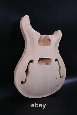 1set Guitar Kit Guitar Neck 22fret Semi Hollow Guitar Body Mahogany Maple Set In