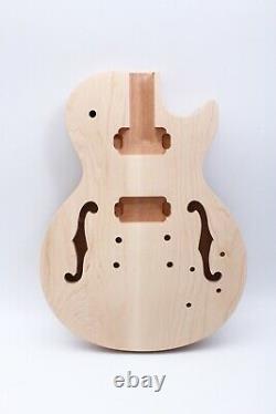 1set Guitar Kit Guitare Cou 22fret 24.75inch Guitare Corps Acajou Semi Hollow