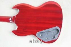 1set Guitar Kit Guitare Neck 22fret 24.75in Guitar Body Projet De Bricolage En Bois D'acajou