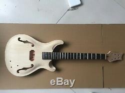 1set Guitare Électrique Kit Acajou Érable Touche Palissandre Guitare Manche Corps De Nice Inlay
