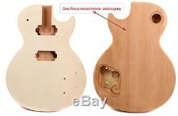 1set Guitare Électrique Kit De Bricolage Guitare Guitare De Cou Body Un Morceau De Bois Pièces Guitare