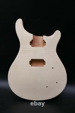 1set Guitare Électrique Kit Guitar Neck Body Maple Mahogany Wood 22fret 24.75inch