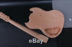 1set Guitare Électrique Kit Guitare Corps Cou 22fret 24.75inch Sg Guitare Électrique
