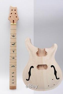 1set Guitare Électrique Kit Guitare Cou 22fret 24.75inch Érable Acajou Guitare Corps