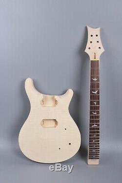 1set Guitare Électrique Kit Guitare Cou 22fret Guitare Corps Acajou Érable