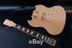 1set Guitare Électrique Kit Guitare Cou Corps Acajou Rosewood 22fret 24.75inch