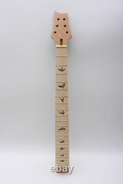 1set Guitare Kit Guitar Neck 22fret Semi-hollow Guitar Body Unfinished Bird Inlay