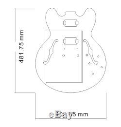 1set Guitare Kit Guitare Acajou Corps Guitare Cou 22fret Es335 Style Semi-creux