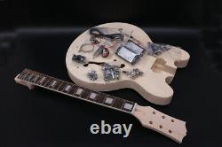 1set Semi-hollow Unfinished Electric Guitar Neck+guitar Body Diy Projet De Guitare