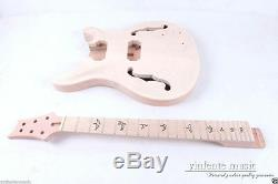 1set Unfinished Guitare Électrique Kit Guitare Électrique De Remplacement Pièces De Guitare