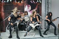 2001 Metallica Box Set Figures Misb & Scène Mcfarlane Toys Guitare T-shirt Tix