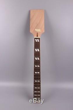 22 Guitar Neck 24,75 Chantourner Pouces De Remplacement Dans Le Style Paddle Set Acajou En Bois De Rose
