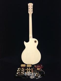 239-a Lp Guitare Électrique Bricolage, Sans Soudure, Manche, Corps Semi-creux, Matériel Doré