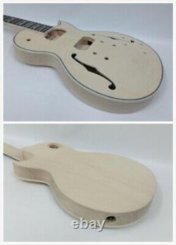 239diysg Guitare Électrique Diy, No-soudure, Set De Cou, Corps Semi-creux, Matériel D'or