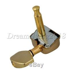 3l3r New Golden Semiclosed Guitars Tuning Chevilles Mécaniques Jeu De 6