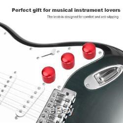 3pcs Durable Guitares Électriques Métalliques Boutons Top Hat Bouton Dôme Accessoires Set Nouveau