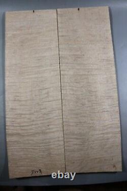 5a Elegant Ripple Maple Wood Bookmatch Les Paul Guitar Top Set Luthier Approvisionnement