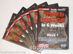 6 DVD Set Lick Library Any James Shred Guitare En 1 2 3 4 5 6 Semaines DVD Learn