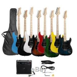 8 Couleurs Brûler Pratique Feu Set Guitare Électrique Avec Sac Amp