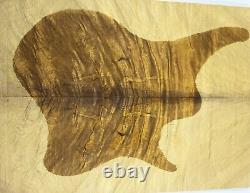 8167 5a Ripple Golden Phoebe Wood Bookmatch Les Paul Guitar Drop Top Set Luthier