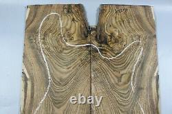8277-1 5a Tiger Rayures Bois Burl Les Paul Guitar Bookmatch Drop Top Set Luthier
