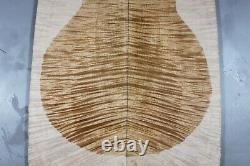 Aaaaa 10mm Flame Maple Burl Wood Bookmatch Guitar Top Set