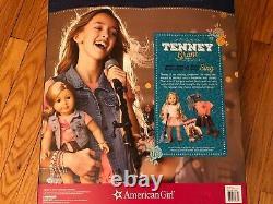 American Girl Tenney Grant Doll Set Book Spotlight Outfit Guitare Retraité Logan