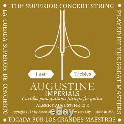 Augustine Imperial Ht Guitare Classique Guitare Treble Nouveau Ensemble Complet De 3