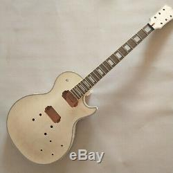 Avancé 1 Jeu Non Fini Bricolage Guitare Cou Et Le Corps Pour Le Kit De Guitare De Style Lp
