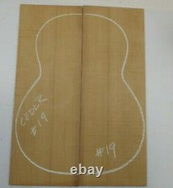 Beau Red Cedar Classique Luthier Tonewood Guitare Top Set Aaaa Free Ship