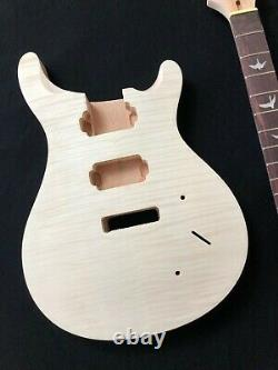 Body 1set Guitare Body & Neck Kit De Guitare Électrique Pour Style Prs Unfinished