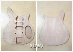 Body & Neck En Acajou Massif, Kit De Bricolage De Guitare Électrique, Set-neck. Dkerk