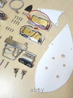 Body Semi-hollow, Kit De Bricolage De Guitare Électrique, Set-neck. Gk Hsrc 1910